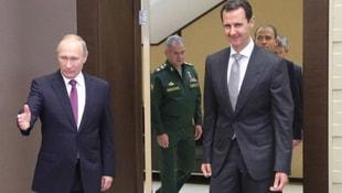 Esad, Putine tablo hediye etti! Suriye krizi sırasında...