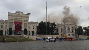 İstanbul Üniversitesinde yangın!
