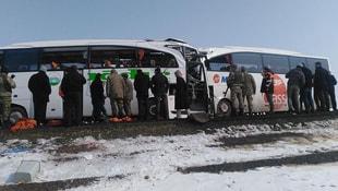 Iğdır'da otobüsler çarpıştı: 6 ölü 15 yaralı