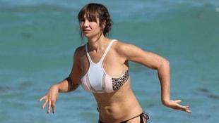 Jackie Cruz Miami'de tatilde