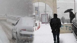 Bayburtta kar yağışı! 15 santimetreye ulaştı
