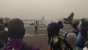 Güney Sudan'da yolcu uçağı düştü: 44 ölü