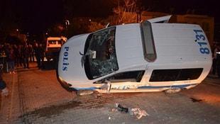 Polis aracı kaza yaptı: 3 yaralı