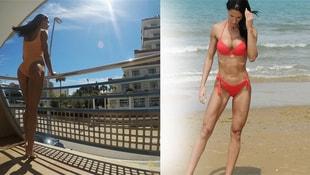 Türkiye Bikini Fitness şampiyonu Deniz Eke sosyal  medyayı salladı!