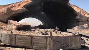 ABD Suriyeye füze fırlattı! Hava üssünden ilk görüntüler