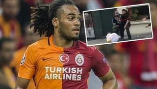 Eski Galatasaraylı oyuncu tekme tokat kavga etti!