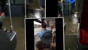Metrobüs bile sular altında!
