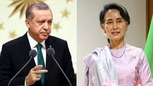 Erdoğan, Myanmar lideri ile görüştü!