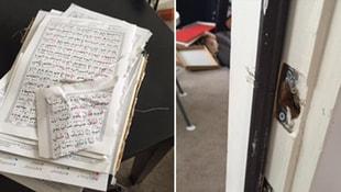 PYD Afrinde camileri bastı! Kuran-ı Kerime bakın ne yaptılar