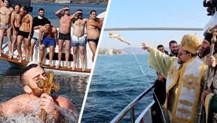 İstanbullu Rumlar Ortaköyde haç çıkardı