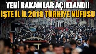 Yeni rakamlar açıklandı! İşte il il 2018 Türkiye nüfusu