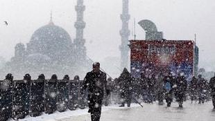 İstanbulda kar yağışı başladı!