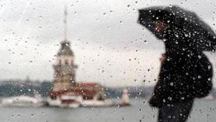 İstanbulda beklenen yağış başladı... Meteorolojiden uyarı var