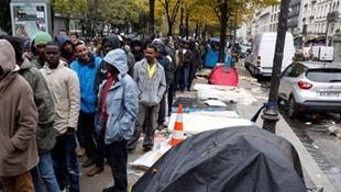 Fransada sığınmacılar, devletin dağıttığı yemeği almadı