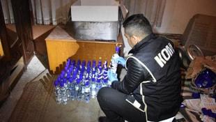 Aksarayda 2 bin 500 adet sahte içki ele geçirildi