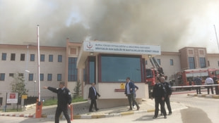 Bursada hastanede yangın