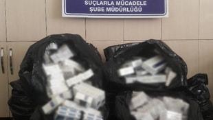 Elazığda 14 bin paket kaçak sigara ele geçirildi