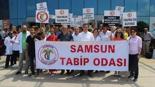Samsunda sağlıkçılardan şiddete karşı eylem