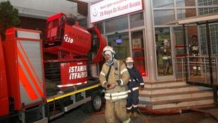 Haseki Hastanesi ek binasındaki yangın
