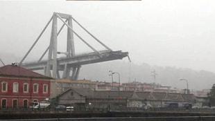 İtalyada otoyol köprüsü çöktü!
