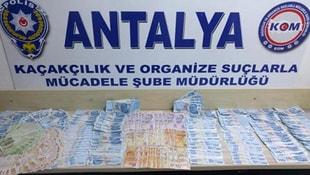 Antalyada sahte para ve içki operasyonu