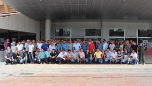 Samsunda işten çıkarılan market zinciri çalışanları eylem yaptı