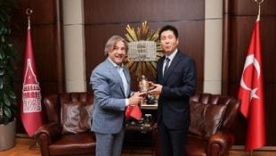 Çin Başkonsolosu Wei, Başkan Demircan'ı ziyaret etti