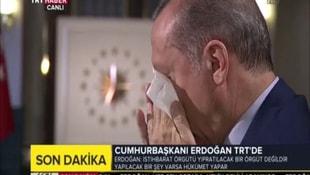 Erdoğan canlı yayında gözyaşlarını tutamadı!