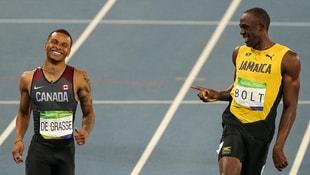 Usain Bolt rakibiyle şakalaşarak yarışı bitirip finale yükseldi