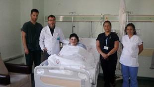 Akciğerindeki raptiye operasyonla çıkarıldı