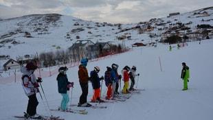 Çambaşı Kayak Merkezi'nde yarıyıl tatili yoğunluğu