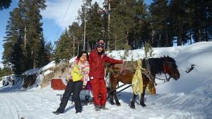 Kış turizmin vazgeçilmezi: Atlı kızaklar
