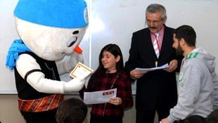 Minik şampiyon adaylarına karneleri Karbeyaz'dan