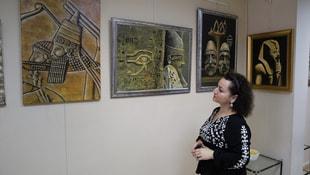 Ebedi Gergefte Ayak İzleri resim sergisi açıldı