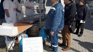 Şehit polis Sekin için lokma döküldü