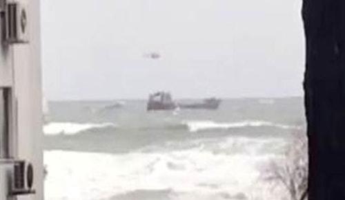 Rus gemisi akıntıya kapıldı! Türkler kurtardı