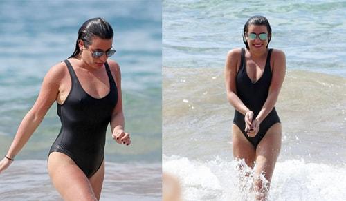 Lea Michele Hawai tatilinde