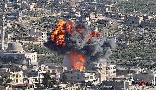 ABD Fransa ve İngiltere Suriye rejimi hedeflerini vurmaya başladı