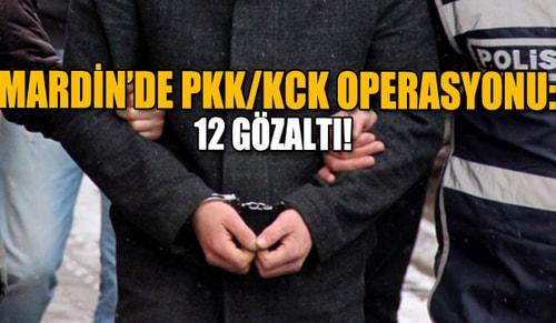 Mardinde PKK/KCK operasyonu: 12 gözaltı