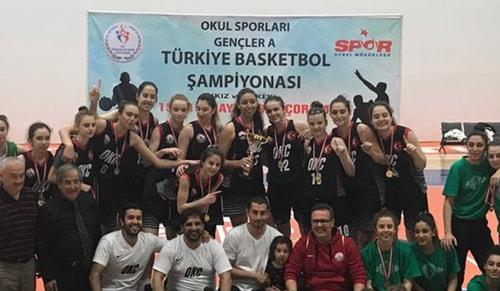 Oğuzkaan Koleji Kız Basketbol Takımı Türkiye Şampiyonu oldu