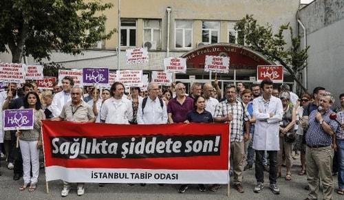 Türk Tabipler Birliği sağlıkta şiddetle ilgili basın açıklaması açıklaması yaptı