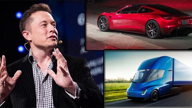 Elon Musk, Teslanın elektirikli TIRını tanıttı