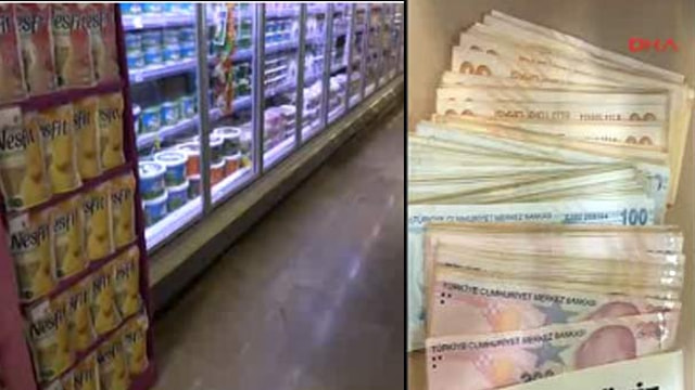 Antalya'da süpermarkete 13 bin TL bulundu