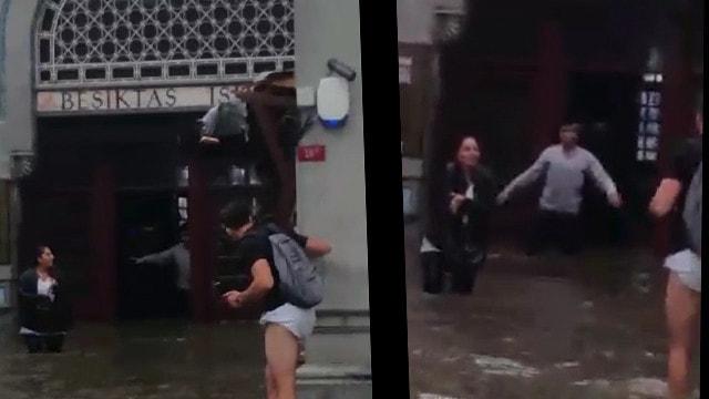 Beşiktaş-Üsküdar iskelesi sular altında