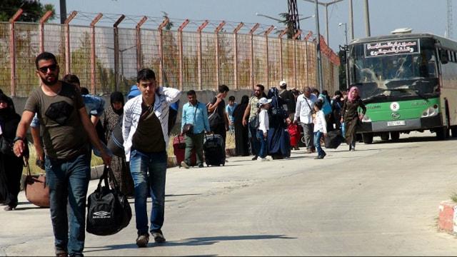 Bayram ziyaretine giden Suriyelilerin dönüşü sürüyor