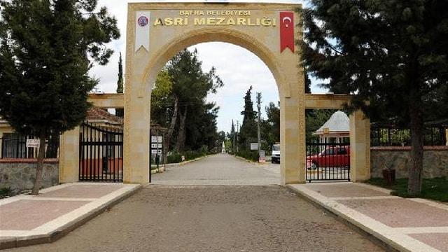 Bafrada mezarlığa terörist cenazesi defnedilecek iddiasına tepki