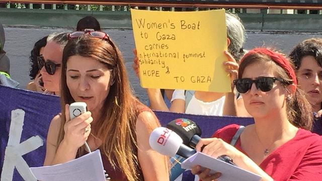 İsrailin Gazze ablukası protesto edildi