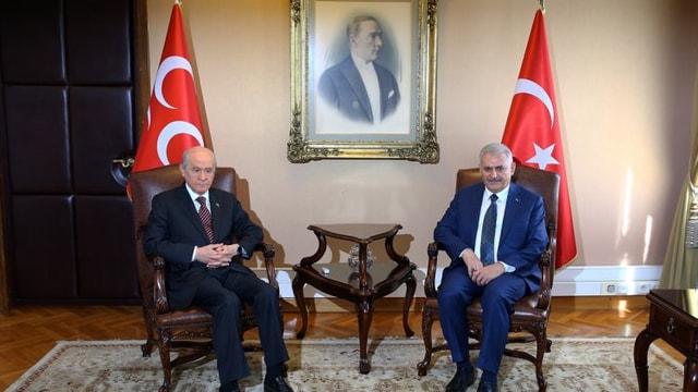 Başbakan yarın MHP lideri Bahçeli ile görüşecek