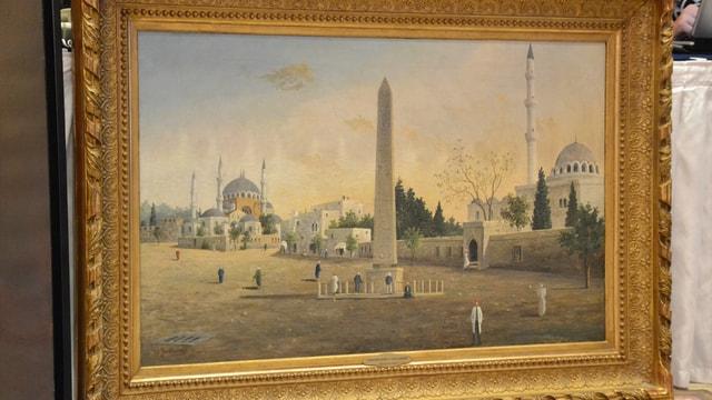 Guillaumet'in Sultan Ahmet Meydanı tablosuna yüksek fiyat
