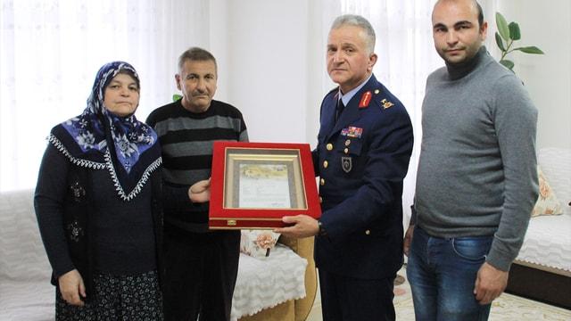Kütahya'da şehit ailesine Şehadet belgesi
